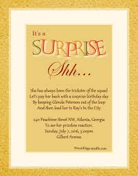 surprise birthday invitation wording u2013 frenchkitten net