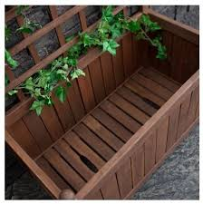 Wooden Planter With Trellis Wood Planter Box Trellis Privacy Screen Garden Patio Backyard