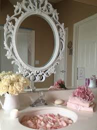 Shabby Chic Large Mirror by Bathroom Cabinets Shabby Shabby Chic Bathroom Cabinet With