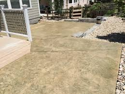 Wood Grain Stamped Concrete by Adams County Co Concrete Contractor Quality Contracting