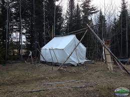 tent platform building a wall tent platform and knee wall