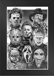 framed horror nights movie villains scariest poster ever