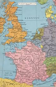 Western Europe Map by English Channel