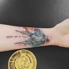 swallow bird tattoo wrist best tattoo ideas gallery