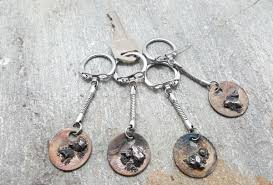 6th anniversary gifts for him meteorite keychain 6th anniversary men gift for men