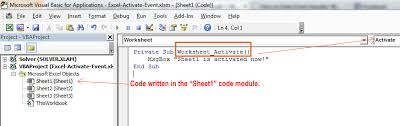 how to enter event handler vba code exceldemy com