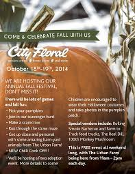 city floral garden center hosts fall festival on october 18 and 19