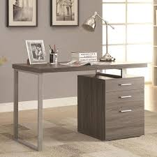 Gray Office Desk Endearing Gray Office Desk With Additional Furniture Home Design