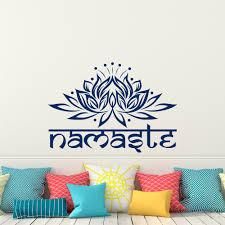 Lotus Flower Wall Decal Om by Aliexpress Com Buy Mandala Lotus Flower Namaste Wall Stickers
