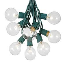 outdoor string light chandelier amazon com g50 patio string lights with 125 clear globe bulbs