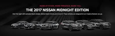 nissan altima 2017 black edition nissan midnight edition 2017 rogue altima sentra maxima pathfinder