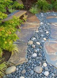 Pebbles And Rocks Garden Flat Green Yellow And Gray Slate Rock With Abstract Like