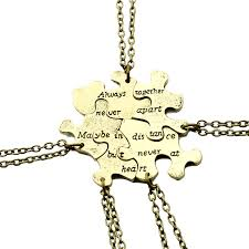 best friends puzzle necklace images 5 pcs set vintage interlocking puzzle necklaces best friends jpg