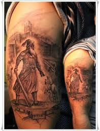 fullsleeve roman warrior tattoo design design of tattoosdesign
