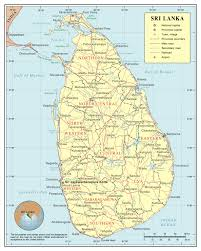 Political Map Of Asia Maps Of Sri Lanka Detailed Map Of Sri Lanka In English Tourist