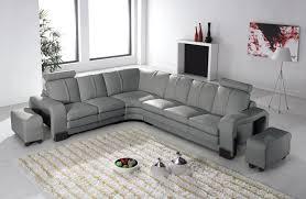 canap avec relax deco in 7 canape d angle en cuir gris avec appuie tete relax