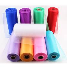 rolls of tulle haochu 8 wide white organza roll tulle 9 colors diy tutu skirt