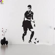 football bedroom wall stickers sticker creations neymar da silva barcelona wall sticker bedroom boys room brazil football player soccer athlete wall decal vinyl