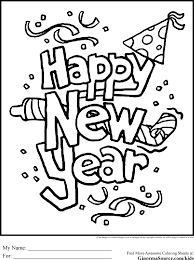 happy new year preschool coloring pages 7 best new year coloring pages images on pinterest coloring
