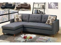 Sectional Sofa Blue Blue Grey Linen Sectional