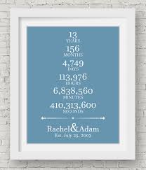 13th anniversary gifts for him 13th anniversary wedding gift for him 13 year anniversary custom