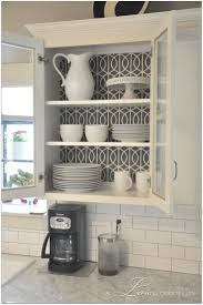Painted Kitchen Cupboard Ideas Best 25 Wallpaper Cabinets Ideas Only On Pinterest Open