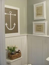 Anchor Bathroom Accessories by Anchored Bath Design Bead Board Walls Silver Sage And Coastal Art