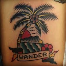 palm tree traditional hawaiian tattoos