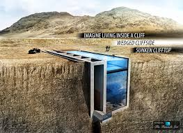 imagine living inside a cliff u2013 luxury home wedged cliffside