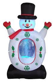 amazon com 4 foot christmas inflatable snowman snowflake snow
