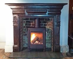 lovely fitting log burner into fireplace part 11 the salamander