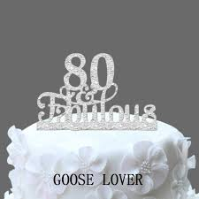 80th Birthday Party Decorations 80th And Fabulous Cake Topper 80th Birthday Party Decoration