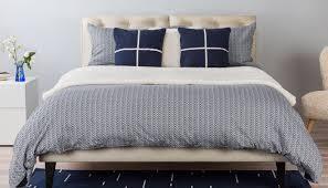 herringbone bed linen navy grey