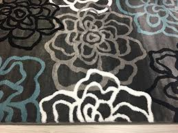 Modern Floral Rugs Rugshop Contemporary Modern Floral Flowers Area Rug 9