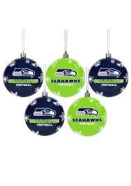 nfl seattle seahawks ornament set