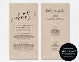 wedding program design template wedding program template wedding program printable we do