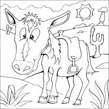 horse coloring picture free colouring pages