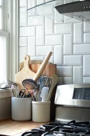 Herringbone Kitchen Backsplash Arizona Tile Beveled Subway Tile In Herringbone Pattern Gout From