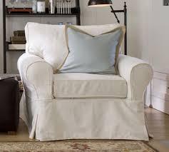 slipcovered chair pb basic slipcovered armchair pottery barn