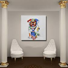 Wall Paintings For Bedroom Aliexpress Com Buy Chinese Pet Dog Wall Art No Framed Or With