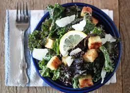 kale caesar salad with tofu croutons u0026 kalamata dressing kitchen