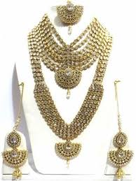 bridal set necklace earring images Gold plated pieces full bridal set jewellery at rs 1499900 set jpg