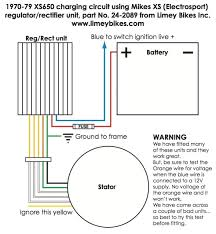 needed wire diagram for mikes xs solid state rectifier regulator