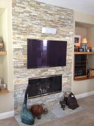 design with corner and tv living modern stone fireplace with tv