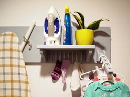 laundry room ironing board wall organizer reality daydream