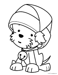 Pages To Colour In Puppy Pictures For Kids To Color Color Bros