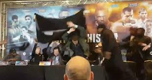 Meme Throws Table - watch moment dereck chisora throws table at dillian whyte during