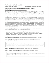 Sample Achievements In Resume by Achievements In Resume Examples For Freshers Achievements In