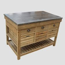 plateau de cuisine centre de cuisine 6 tiroirs 6 casiers en bois recyclé et plateau
