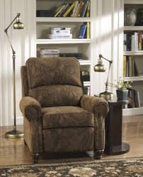 magnificent low leg recliner with brown dark color covers and